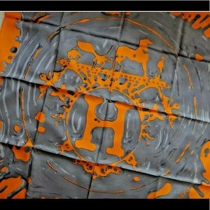 Hermes Peinture Silk Scarf Orange